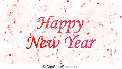 Happy New Year text on white background