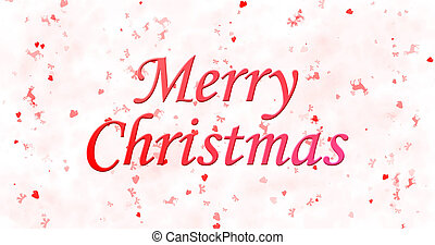 Merry Christmas text on white background