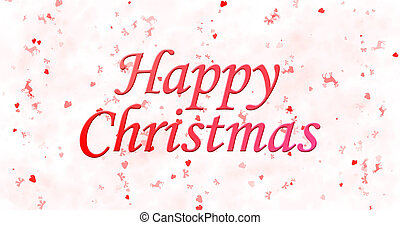 Happy Christmas text on white background