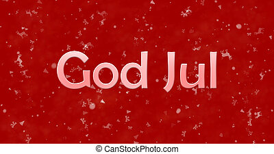 """Merry Christmas text in Norwegian """"God Jul"""" on red..."""