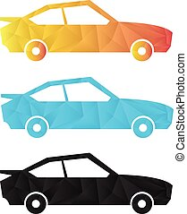 car in geometric polygonal concept design