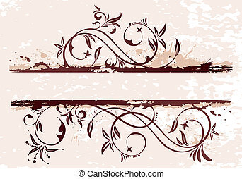 Grunge Floral Background - Grunge Floral background for...