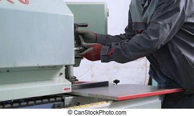 Innovation woodworking machinery - Close-up of innovation...