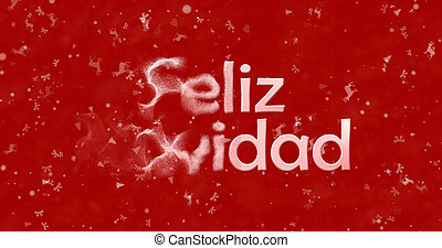 "Merry Christmas text in Spanish ""Feliz Navidad"" turns to..."