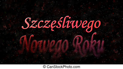 "Happy New Year text in Polish ""Szczesliwego Nowego Roku""..."