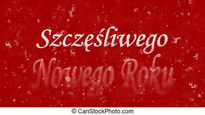 """Happy New Year text in Polish """"Szczesliwego Nowego Roku""""..."""