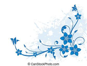 Floral background - Grunge floral background, element for...