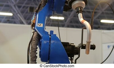 Automated robotic machine - mechanical arm for industrial...