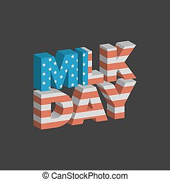 Martin Luther King Day sign with USA flag background