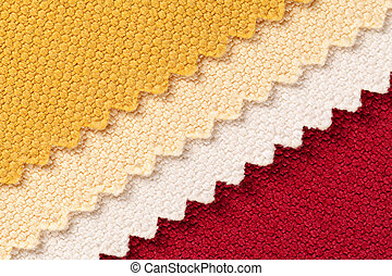 Composition of colored diagonal stripes of serrated cotton...