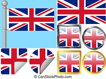 Great Britain Flag Set