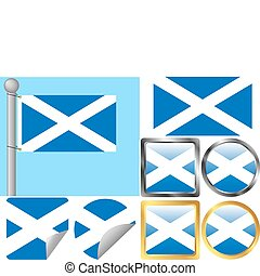 Scotland Flag Set