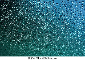 Condensation Water Bubbles - Macro closeup of condensation...