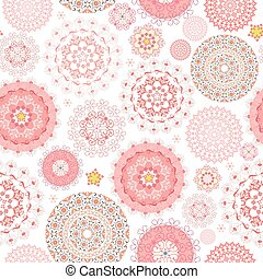 cute seamless texture with graceful arabesques for your design