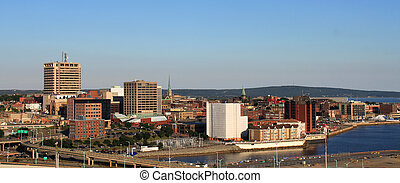 City panorama of Saint John, New Brunswick - City view of...