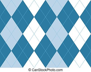 Blue argyle seamless pattern