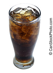 softdrink with soda in glass