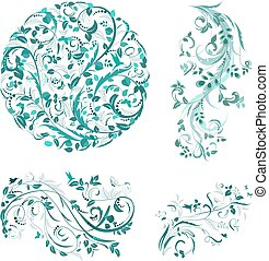flourish collection of patterns for your design
