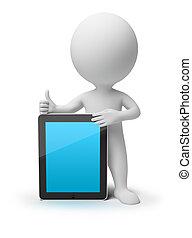 3D, 小さい, 人々, -, iPad