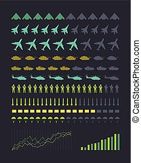 Set of Military Armament Vector Silhouettes - Military...