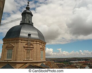 jesuit church - view from the Jesuit church in toldeo in...
