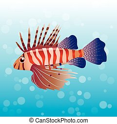 illustration of Volitan Lionfish - Very high quality...