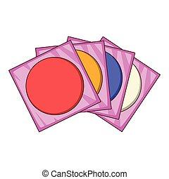 CD icon, cartoon style - CD icon. Cartoon illustration of CD...
