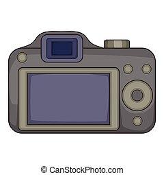 Photocamera icon, cartoon style - Photocamera icon. Cartoon...