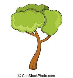 Deciduous tree icon, cartoon style - Deciduous tree icon....