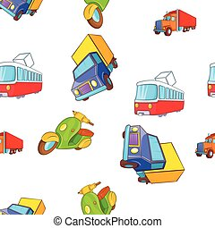 Transport pattern, cartoon style - Transport pattern....
