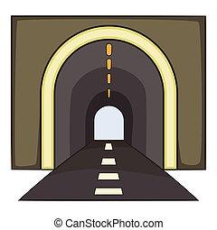 Tunnel icon, cartoon style - Tunnel icon. Cartoon...
