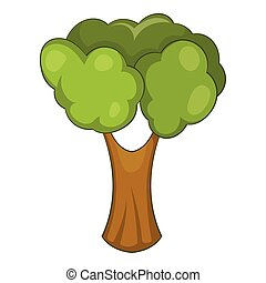 Fruit tree icon, cartoon style - Fruit tree icon. Cartoon...