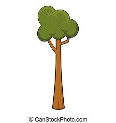 Thin tree icon, cartoon style - Thin tree icon. Cartoon...