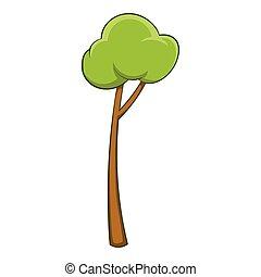 Sapling icon, cartoon style - Sapling icon. Cartoon...