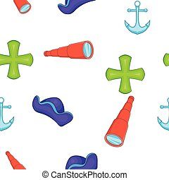 Sailing equipment pattern, cartoon style