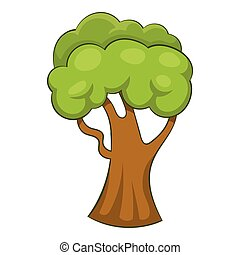 Forest tree icon, cartoon style - Forest tree icon. Cartoon...