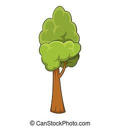 Summer tree icon, cartoon style - Summer tree icon. Cartoon...
