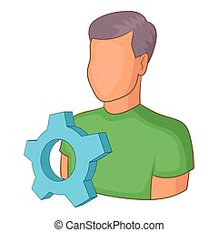 Engineering vacancy icon, cartoon style