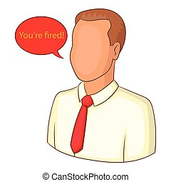 You are fired icon, cartoon style - You are fired icon....
