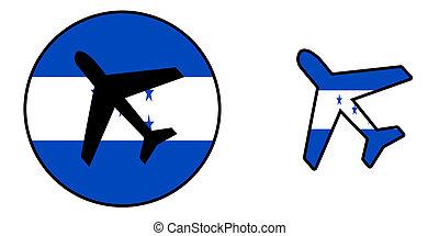 honduras,  -, aislado, nación, bandera, avión