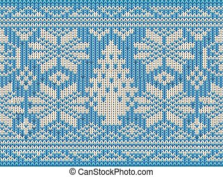 Holidays winter knitted seamless wallpaper, vector...