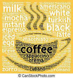 Coffee word cloud concept