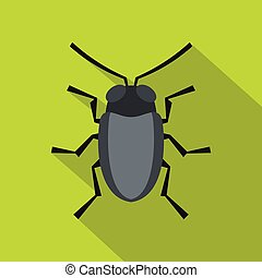 Small bug icon, flat style