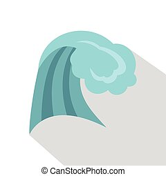 Ocean wave icon, cartoon style