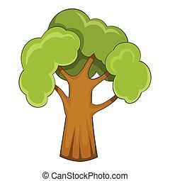 Garden tree icon, cartoon style - Garden tree icon. Cartoon...