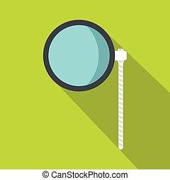 Eye check icon, flat style - Eye check icon. Flat...