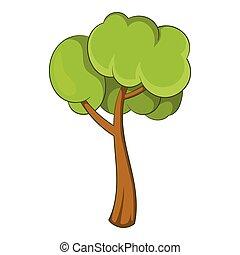 Small tree icon, cartoon style - Small tree icon. Cartoon...