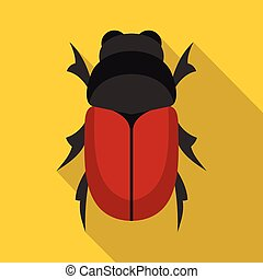 Maybug icon, flat style