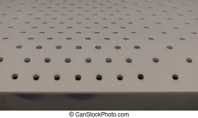 Belt conveyor abstract background - Moving empty conveyor...