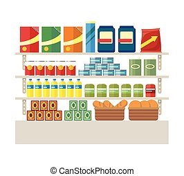 Supermarkets and Grocery Stores. Retail Shop - Supermarkets...